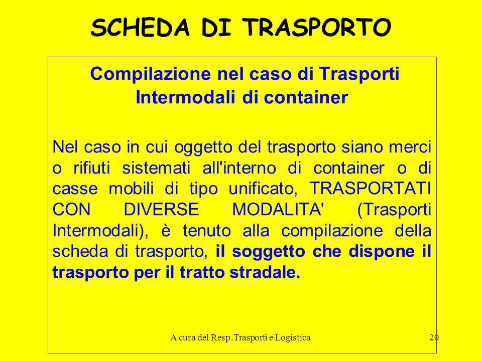 Compilazione nel caso di Trasporti Intermodali di container