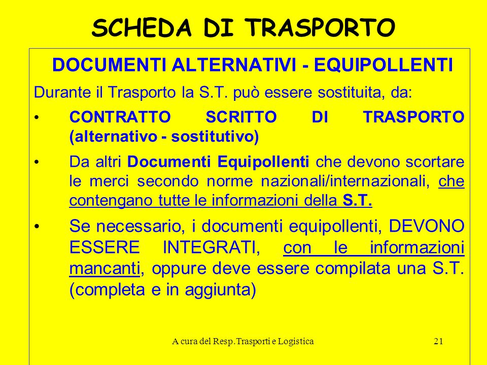 DOCUMENTI ALTERNATIVI - EQUIPOLLENTI