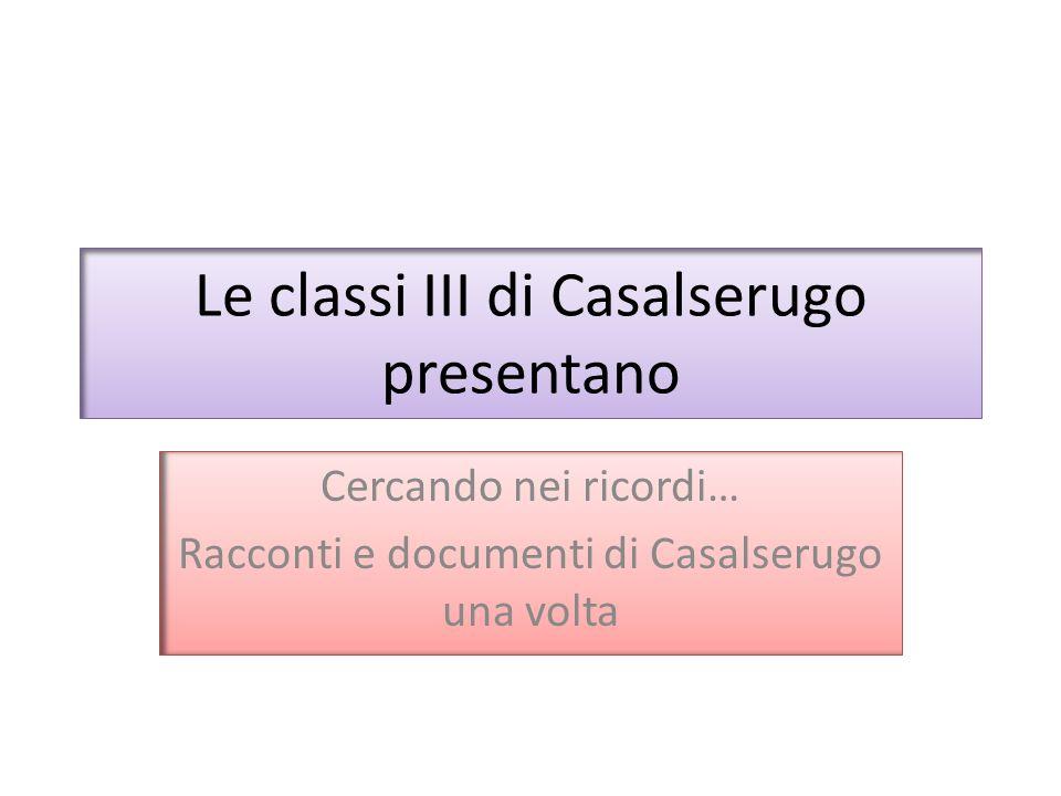 Le classi III di Casalserugo presentano