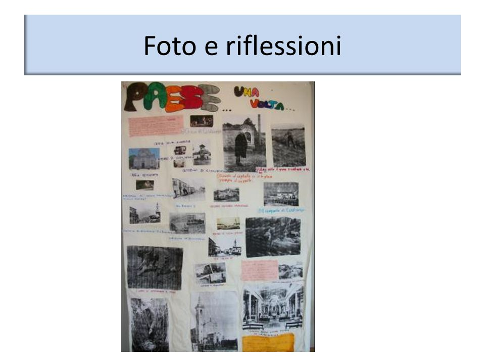 Foto e riflessioni
