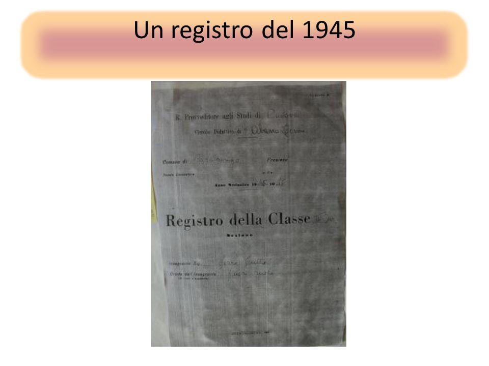 Un registro del 1945