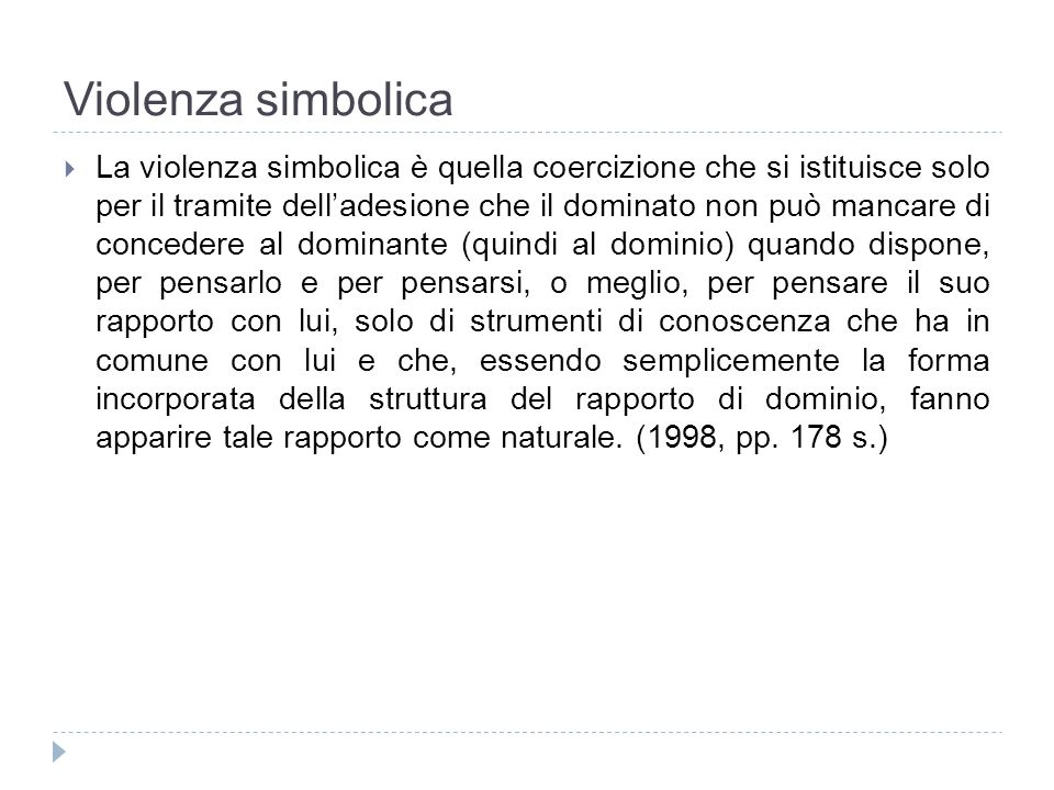 Violenza simbolica