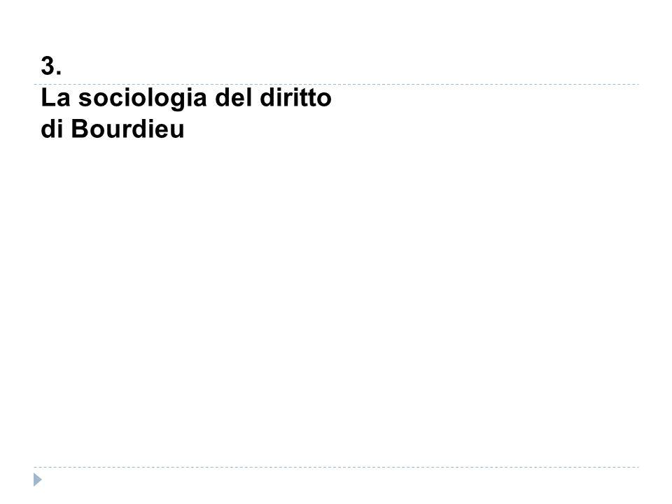 3. La sociologia del diritto di Bourdieu