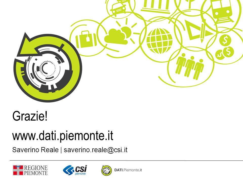 Grazie! www.dati.piemonte.it