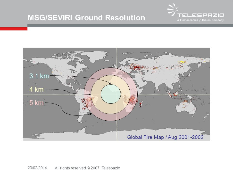MSG/SEVIRI Ground Resolution