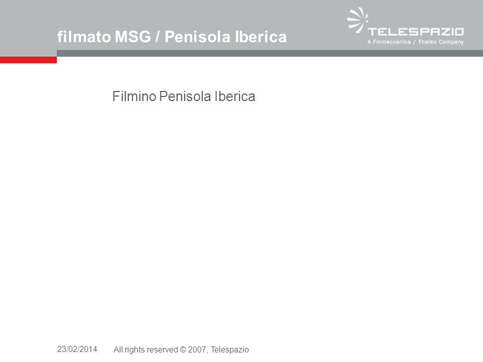 filmato MSG / Penisola Iberica