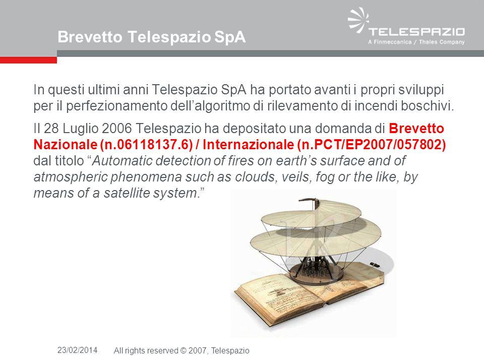 Brevetto Telespazio SpA