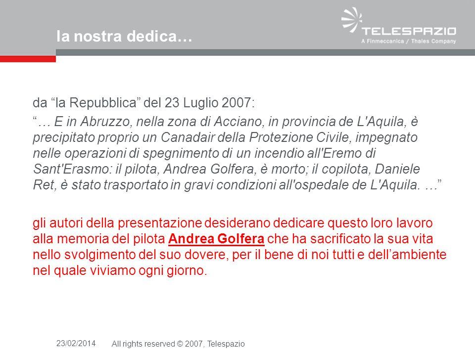 la nostra dedica… da la Repubblica del 23 Luglio 2007: