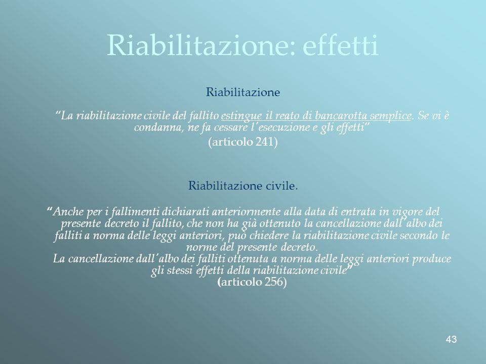 Riabilitazione: effetti