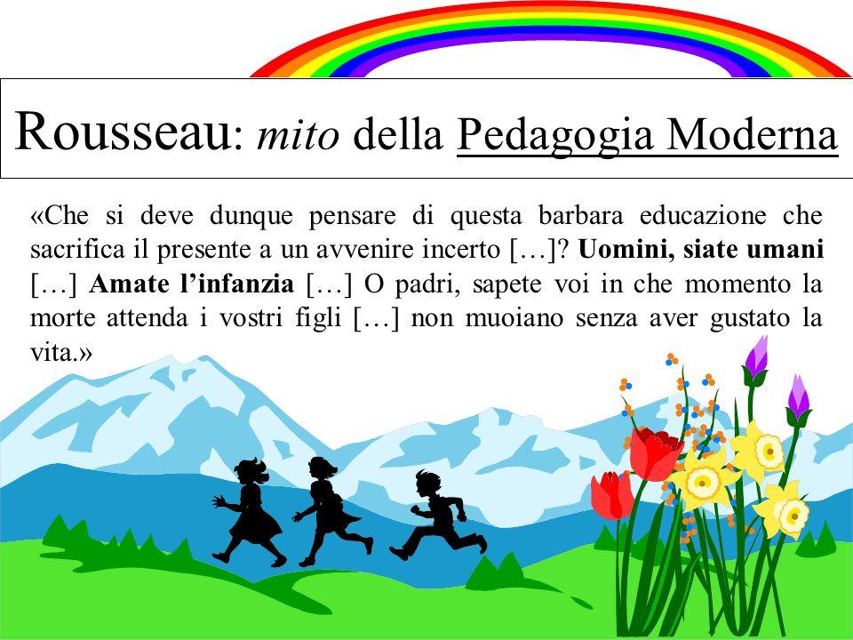 Rousseau: mito della Pedagogia Moderna