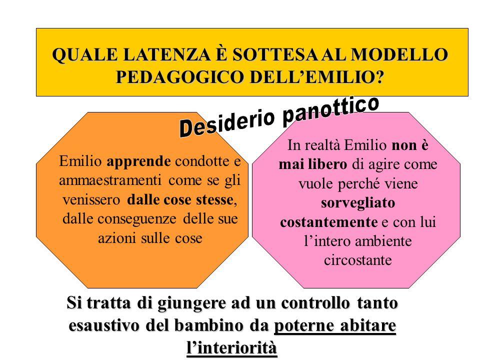 QUALE LATENZA È SOTTESA AL MODELLO PEDAGOGICO DELL'EMILIO