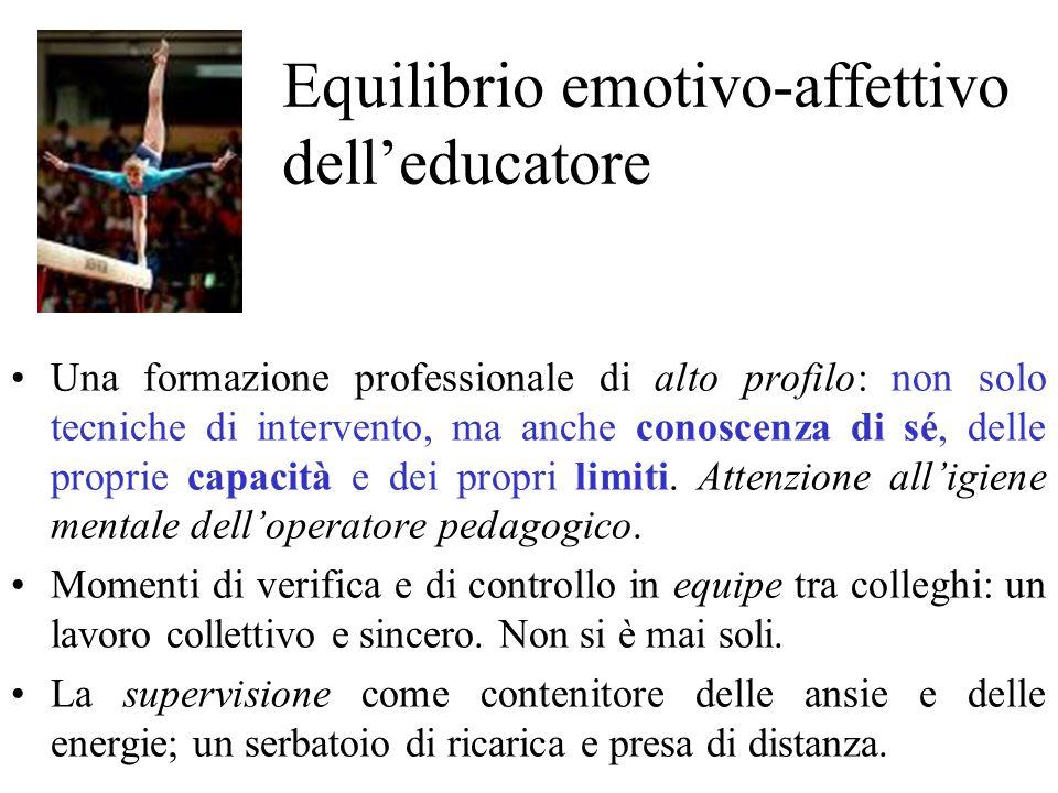 Equilibrio emotivo-affettivo dell'educatore