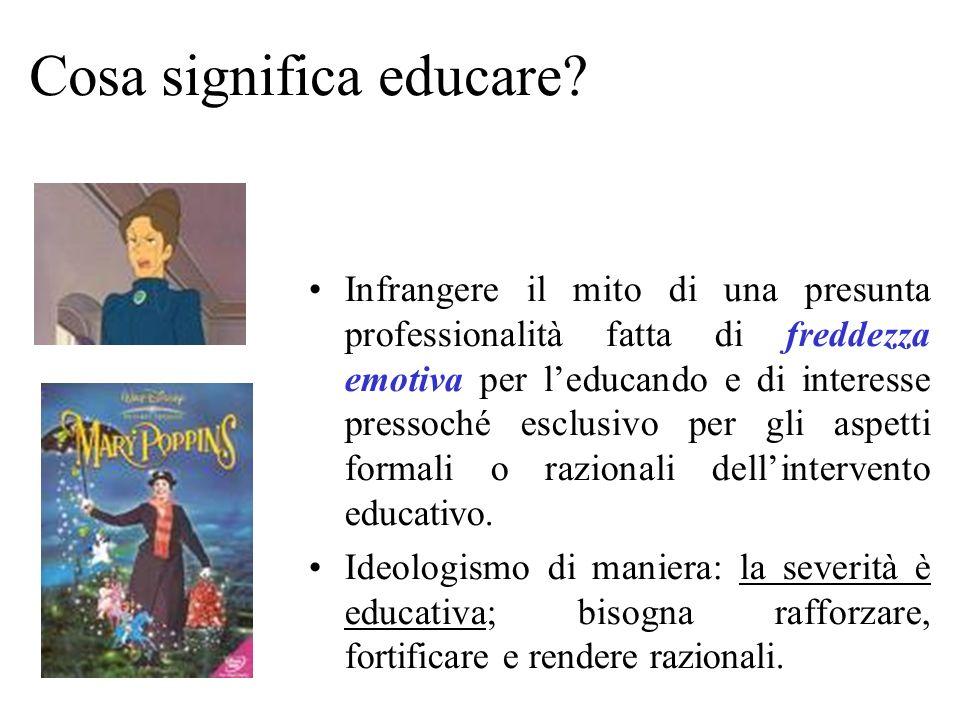 Cosa significa educare