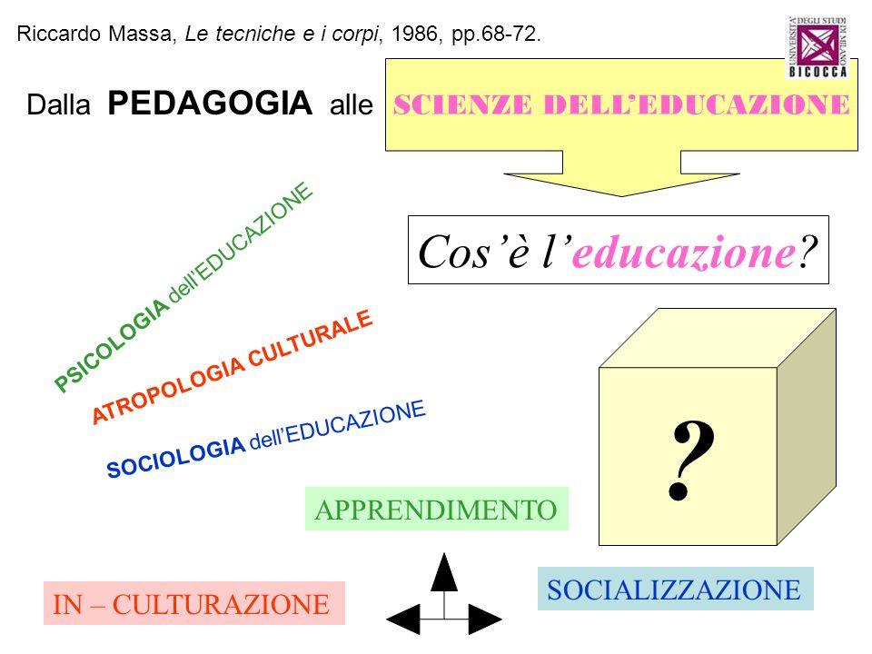 SCIENZE DELL'EDUCAZIONE