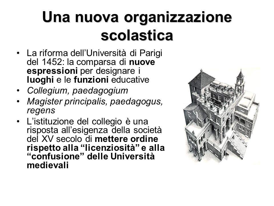 Una nuova organizzazione scolastica