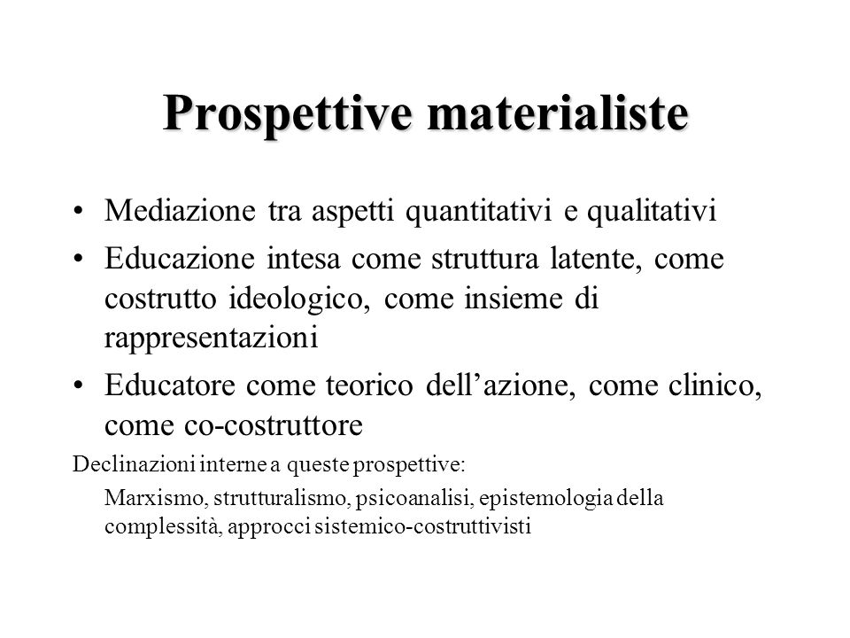 Prospettive materialiste