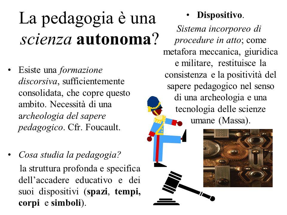 La pedagogia è una scienza autonoma