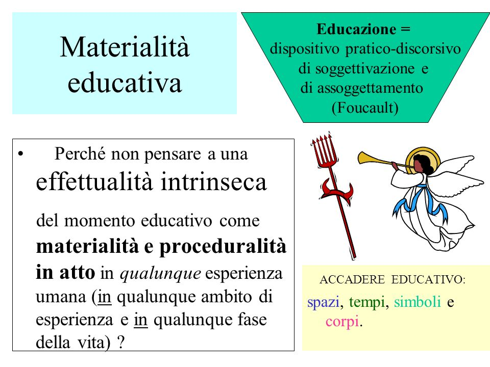 Materialità educativa