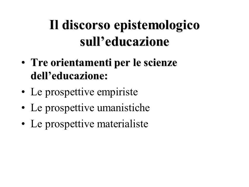 Il discorso epistemologico sull'educazione