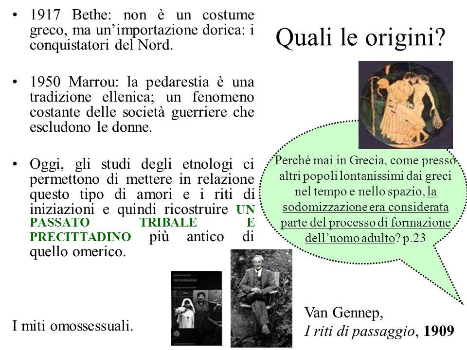 1917 Bethe: non è un costume greco, ma un'importazione dorica: i conquistatori del Nord.