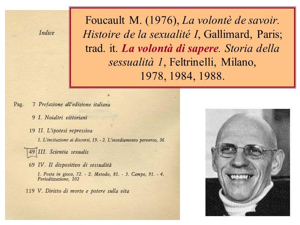 Foucault M. (1976), La volontè de savoir
