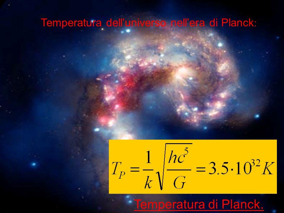 Temperatura dell'universo nell'era di Planck: