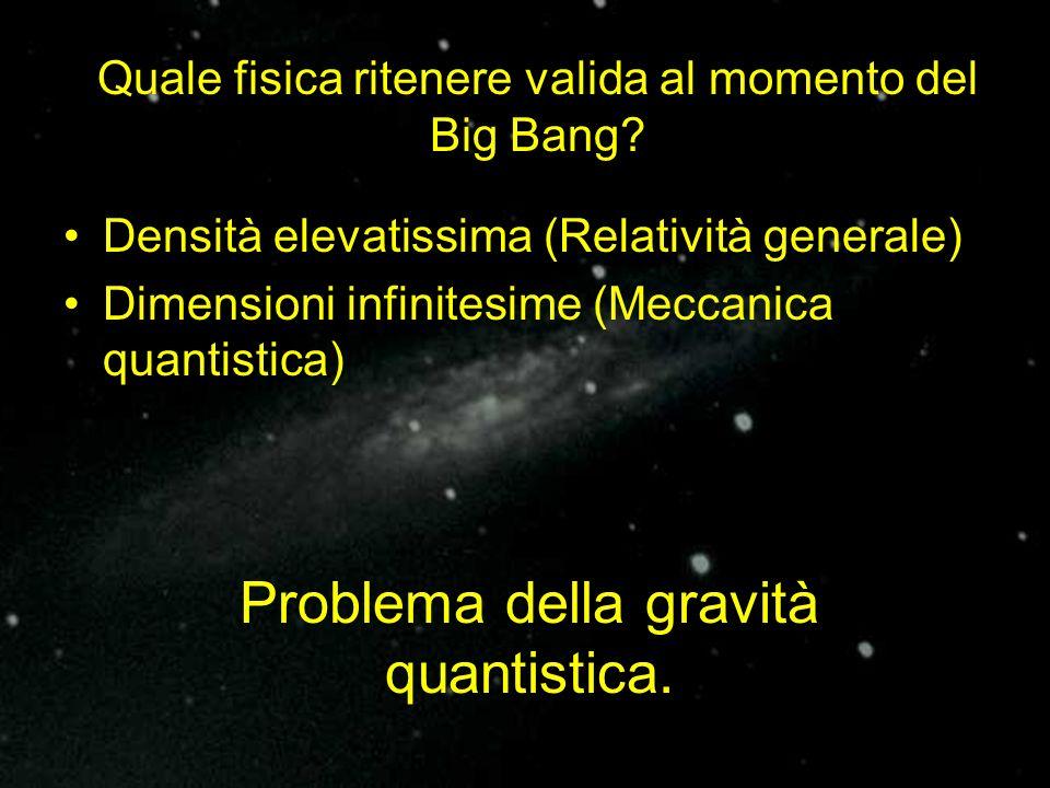Problema della gravità quantistica.