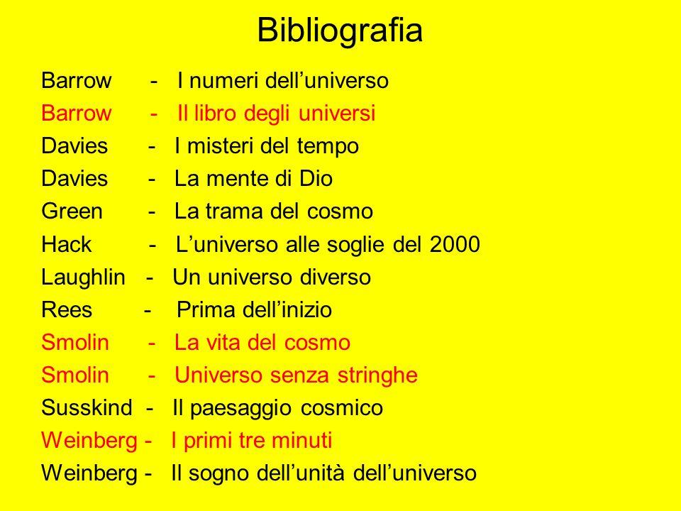 Bibliografia Barrow - I numeri dell'universo