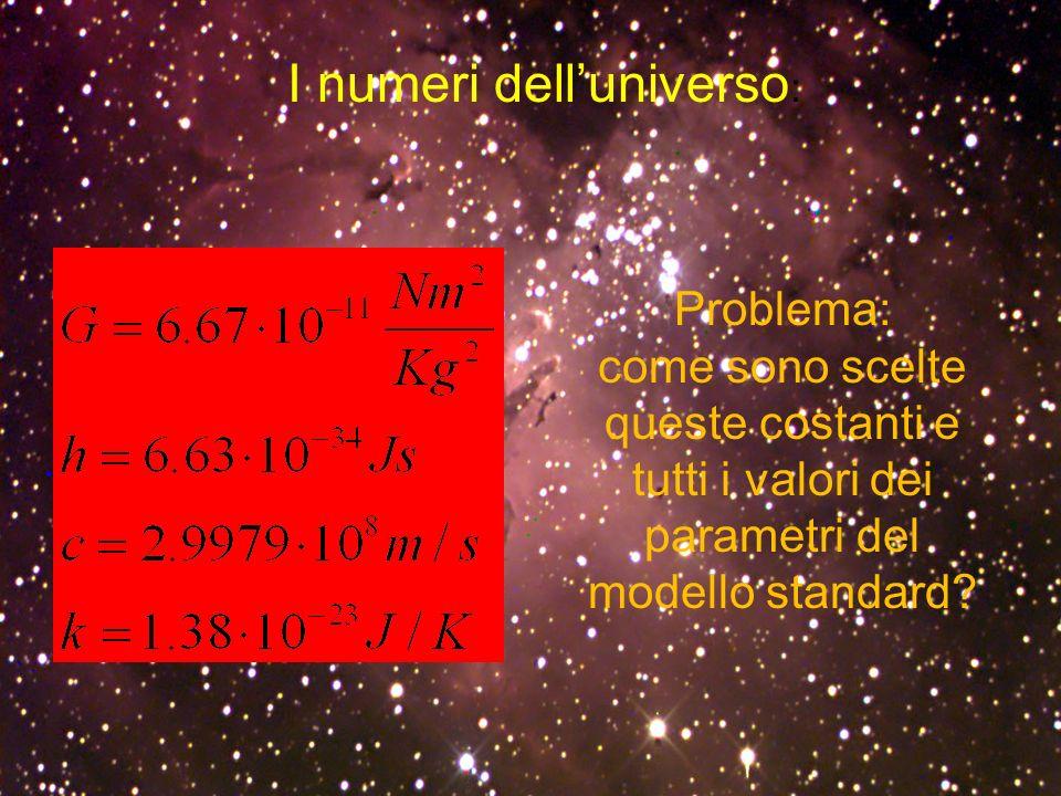 I numeri dell'universo: