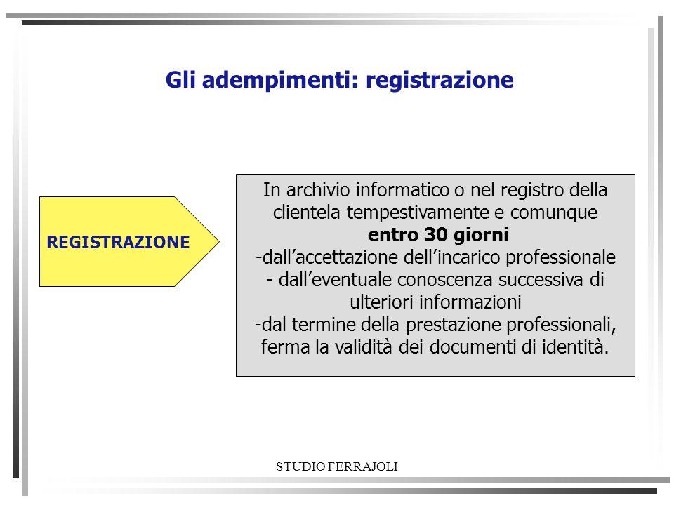 Gli adempimenti: registrazione