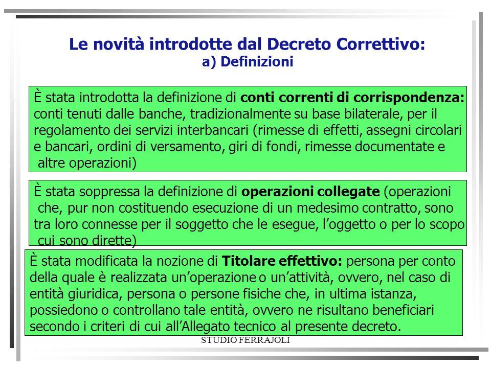 Le novità introdotte dal Decreto Correttivo: