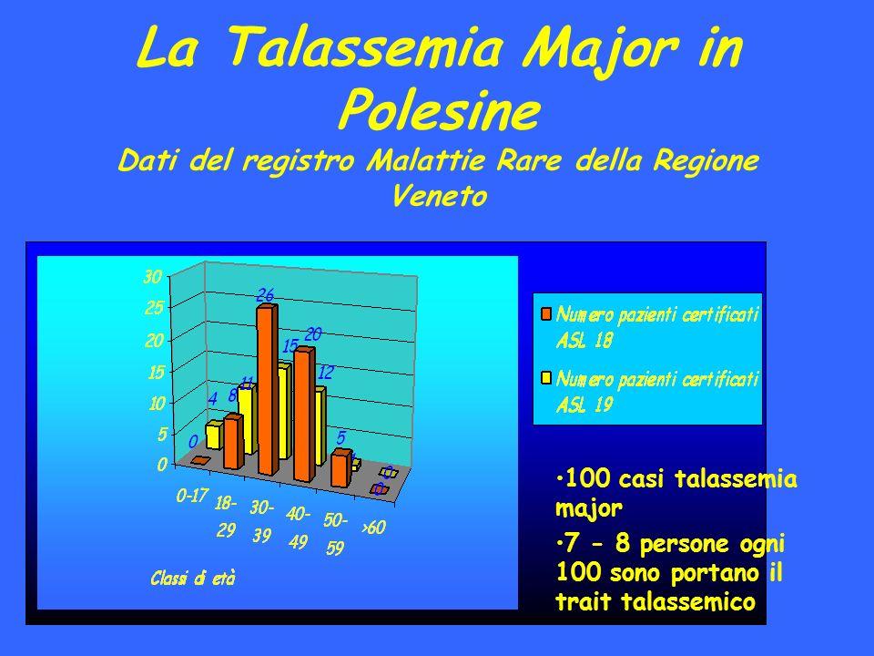 La Talassemia Major in Polesine Dati del registro Malattie Rare della Regione Veneto