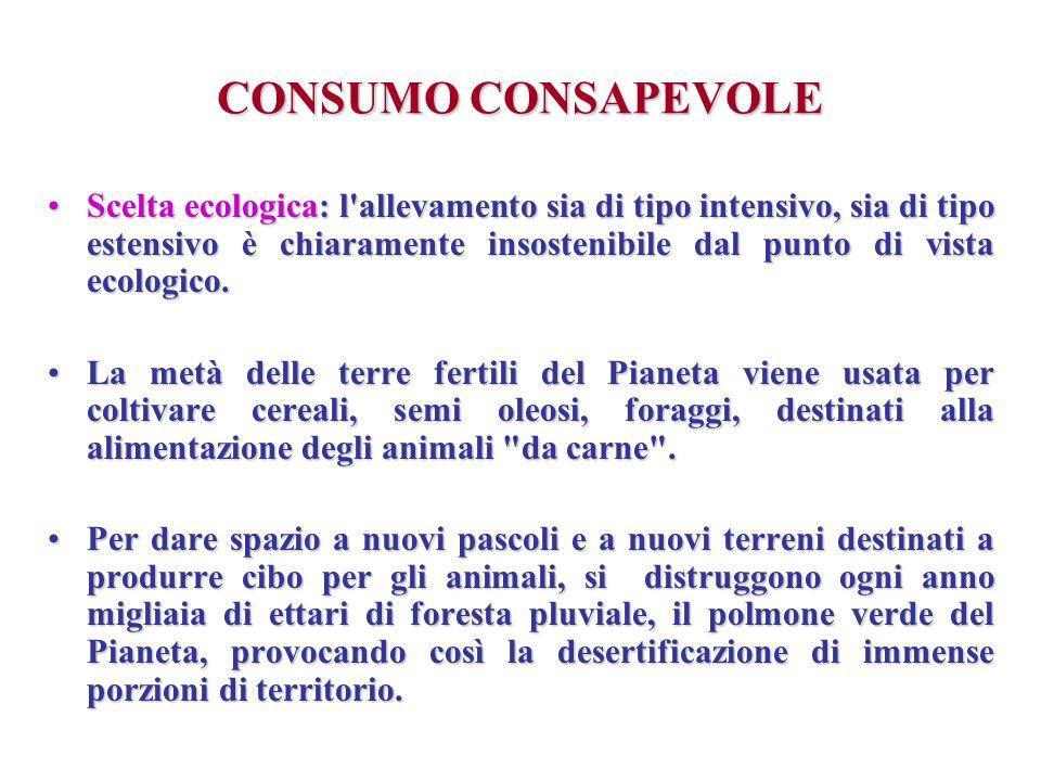 CONSUMO CONSAPEVOLE