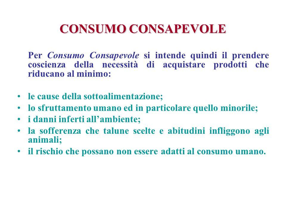 CONSUMO CONSAPEVOLE le cause della sottoalimentazione;