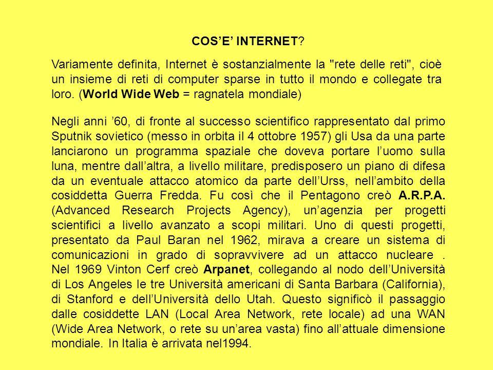 COS'E' INTERNET