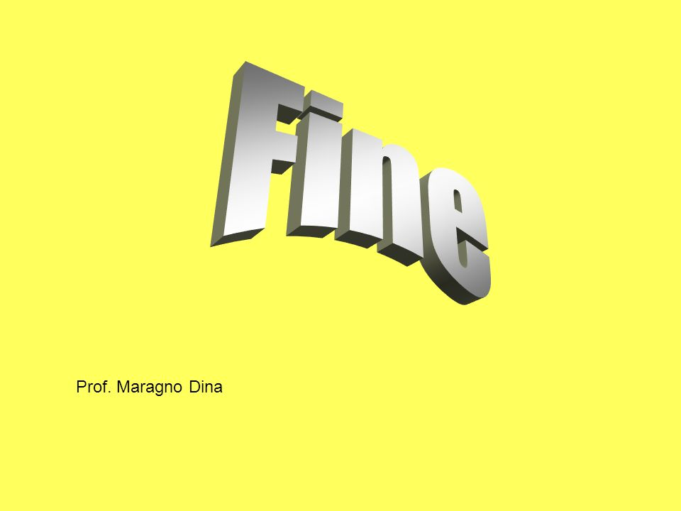 Fine Prof. Maragno Dina