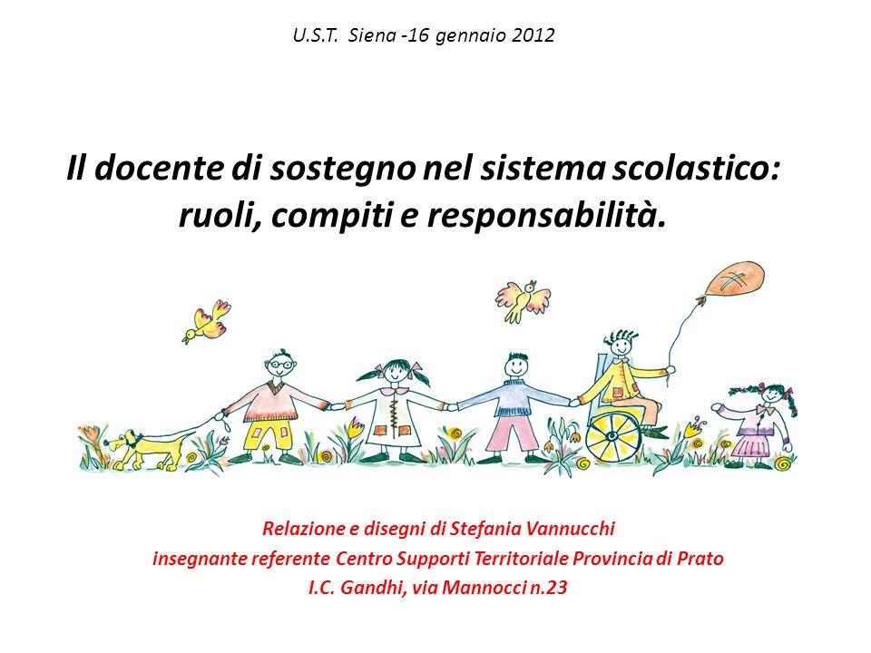 U.S.T. Siena -16 gennaio 2012 Il docente di sostegno nel sistema scolastico: ruoli, compiti e responsabilità.