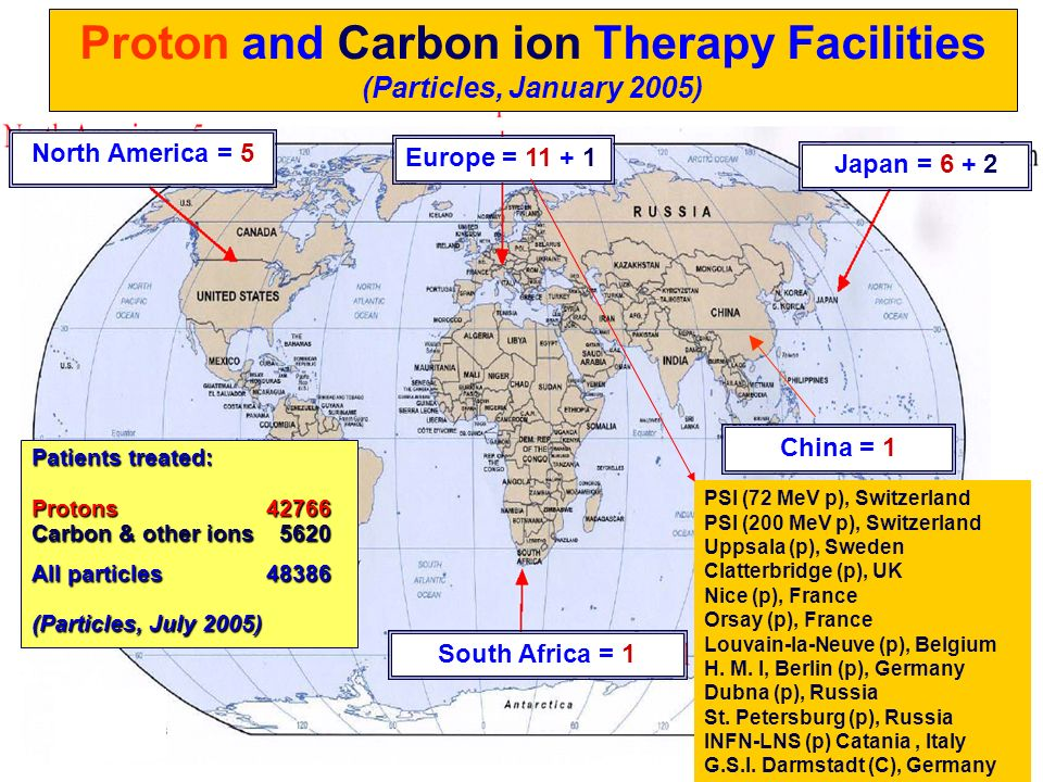 Proton and Carbon ion Therapy Facilities