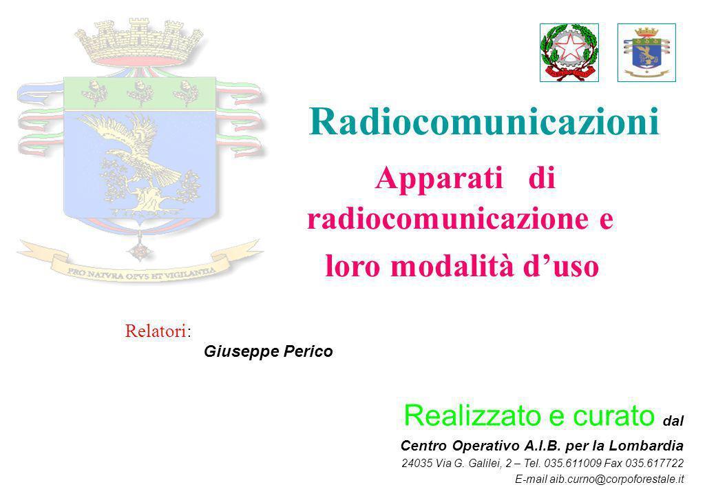Apparati di radiocomunicazione e