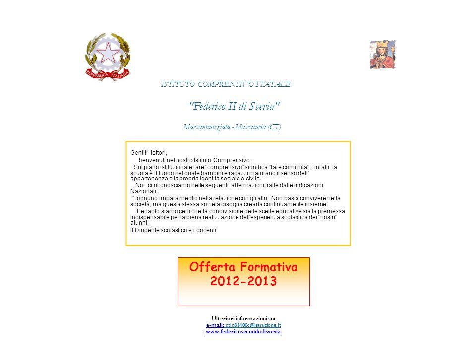 Federico II di Svevia Offerta Formativa 2012-2013