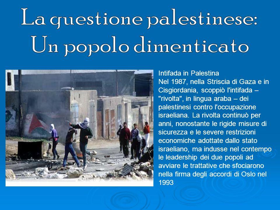 La questione palestinese: