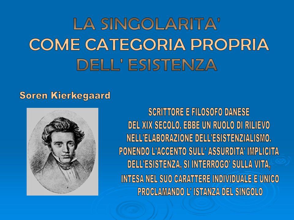 COME CATEGORIA PROPRIA DELL ESISTENZA
