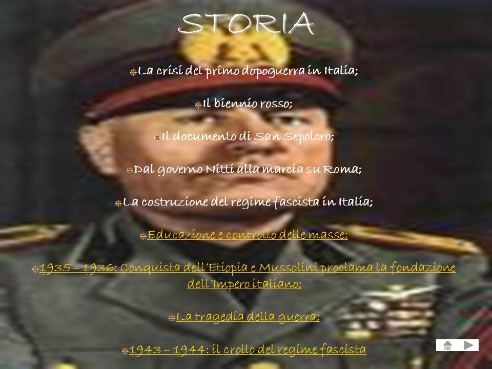 STORIA La crisi del primo dopoguerra in Italia; Il biennio rosso;