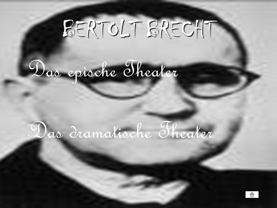 BERTOLT BRECHT Das epische Theater Das dramatische Theater
