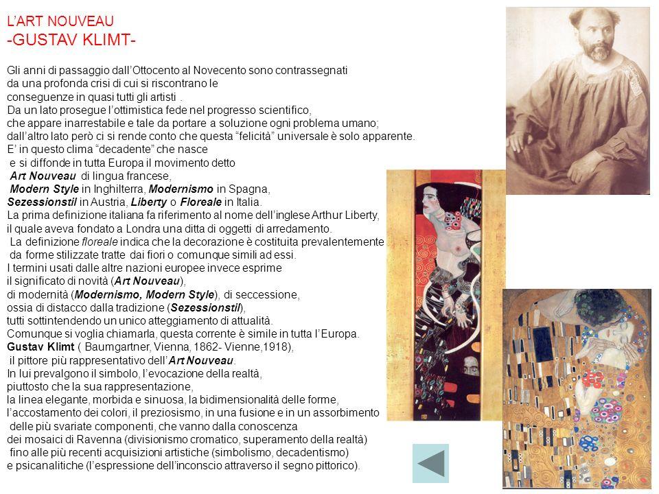 -GUSTAV KLIMT- L'ART NOUVEAU