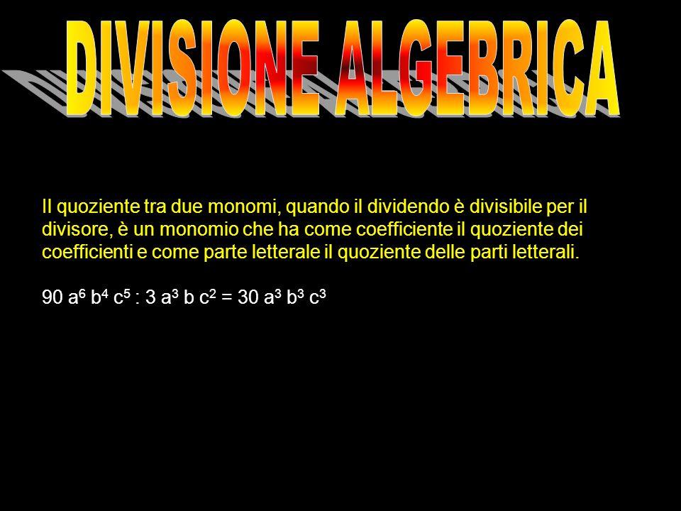 DIVISIONE ALGEBRICA