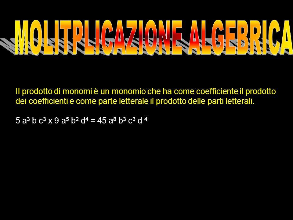 MOLITPLICAZIONE ALGEBRICA