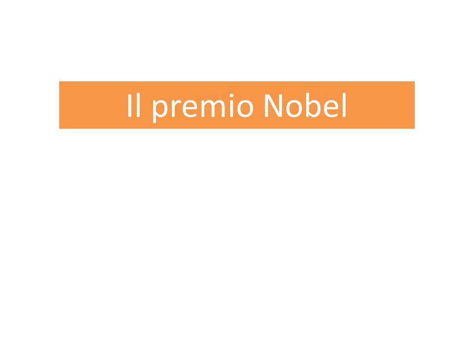 1 Il premio Nobel