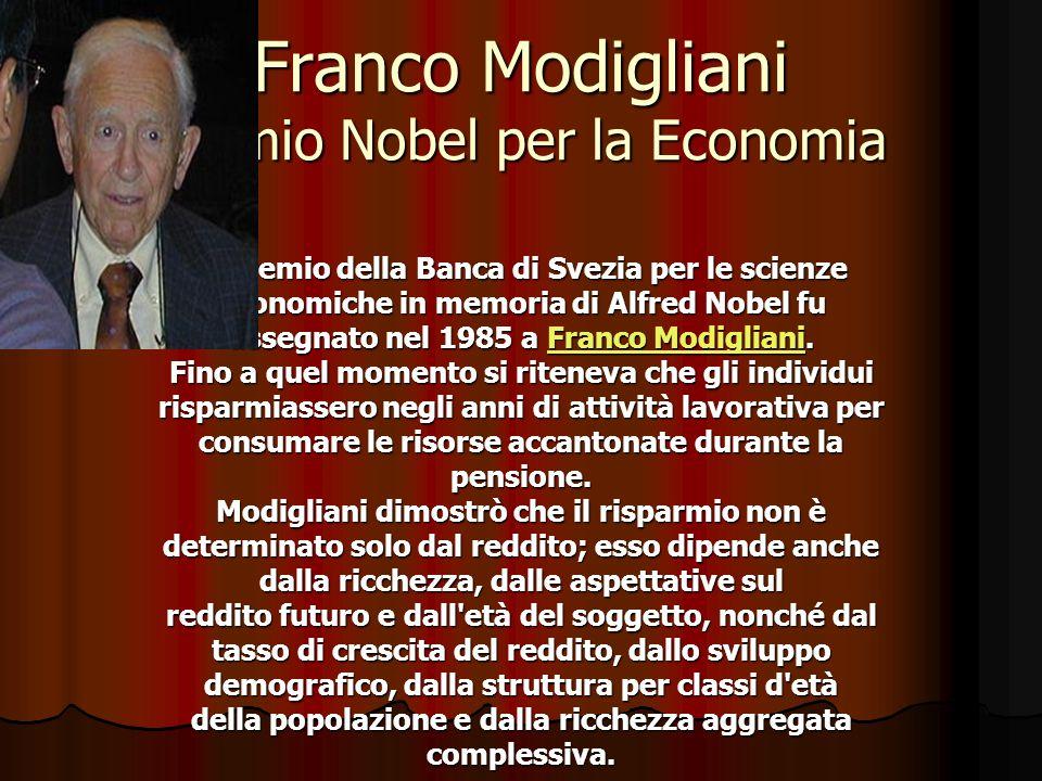 Franco Modigliani Premio Nobel per la Economia