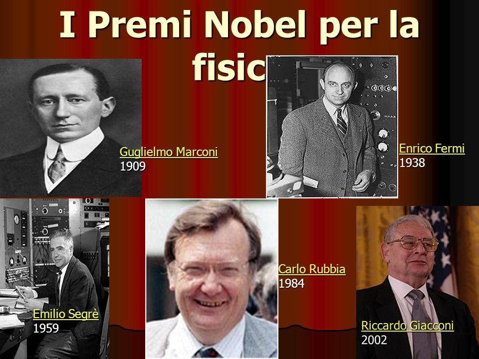 I Premi Nobel per la fisica